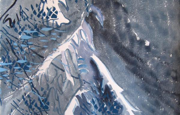 Snowy Spruce 2  |  Original Painting by Kamilla Talbot