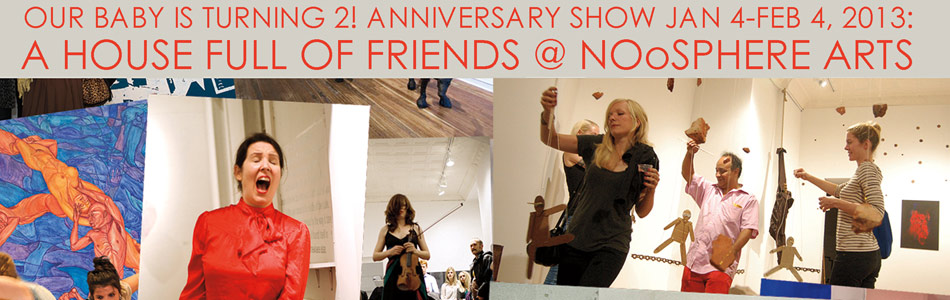 A House Full of Friends: Anniversary Show & Benefit Auction @ NOoSPHERE Arts
